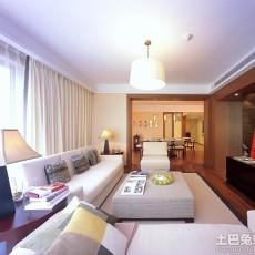 热门面积87平简约二居客厅效果图片大全