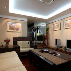简中式家装客厅设计效果图