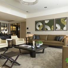 现代家庭客厅装修效果图大全2014图片