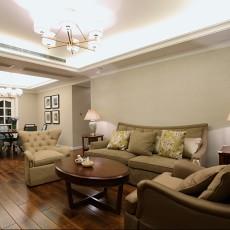 简美式风格家庭客厅装修效果图
