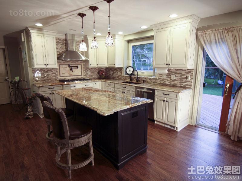 欧式装修风格整体厨房效果图