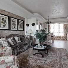 法式风格两居室家装客厅装修效果图