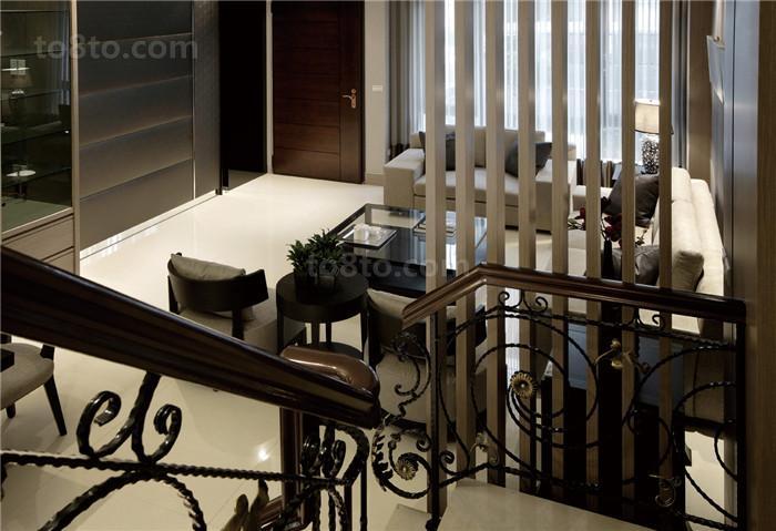 复式楼铁艺楼梯扶手图片