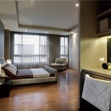 现代风格大卧室装修效果图2014
