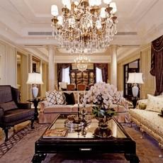 热门大小132平别墅客厅欧式设计效果图
