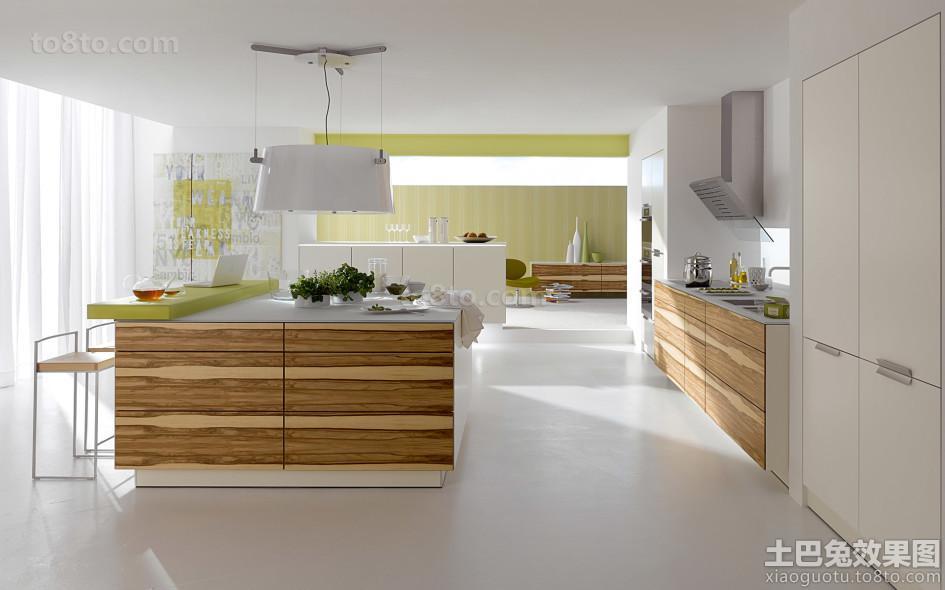 开放式厨房小橱柜效果图