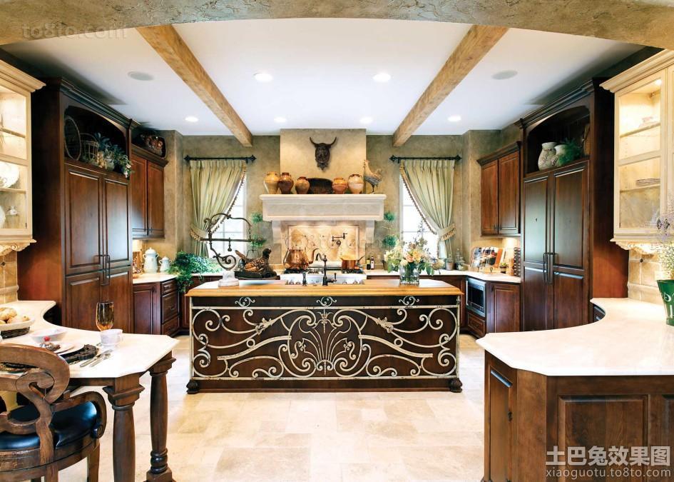 大厨房一体式橱柜设计图片欣赏