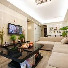 面积78平小户型客厅现代装修图