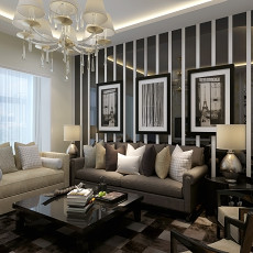 精选82平方二居客厅现代装修图片欣赏