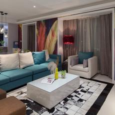 2018面积75平现代二居客厅装修效果图片欣赏