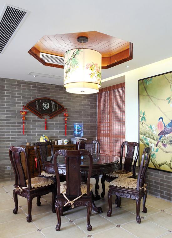 混搭中式餐厅效果图