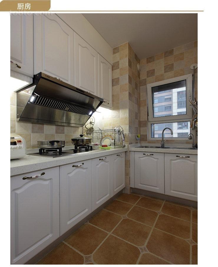 精选面积85平小户型厨房地中海装修图片