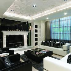 93平方三居客厅现代装修效果图片欣赏