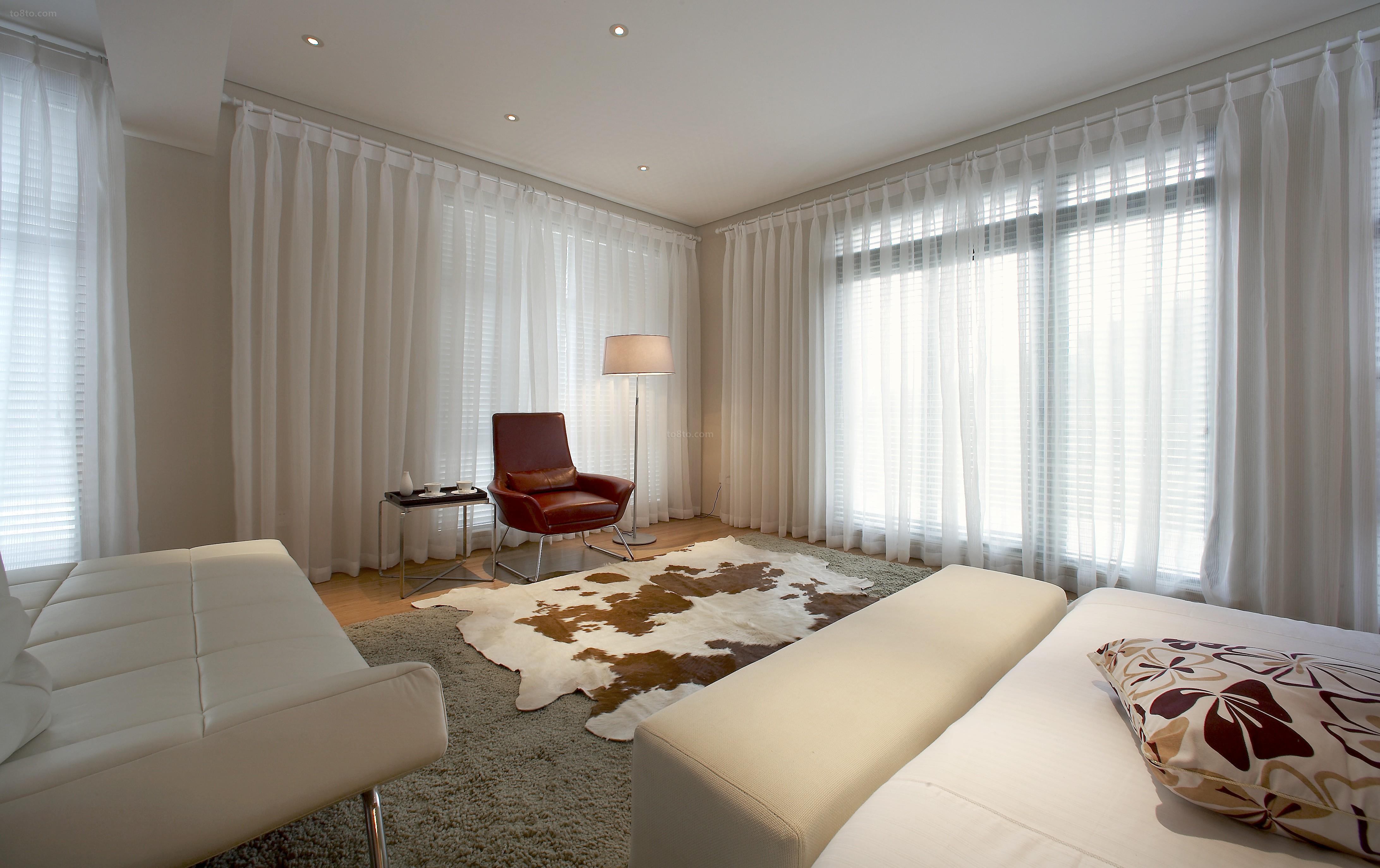 面积72平小户型休闲区现代装修实景图