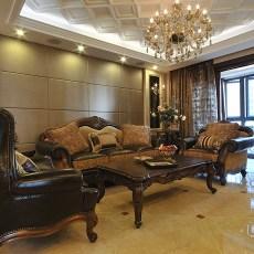 欧式古典风格两室两厅客厅装修设计