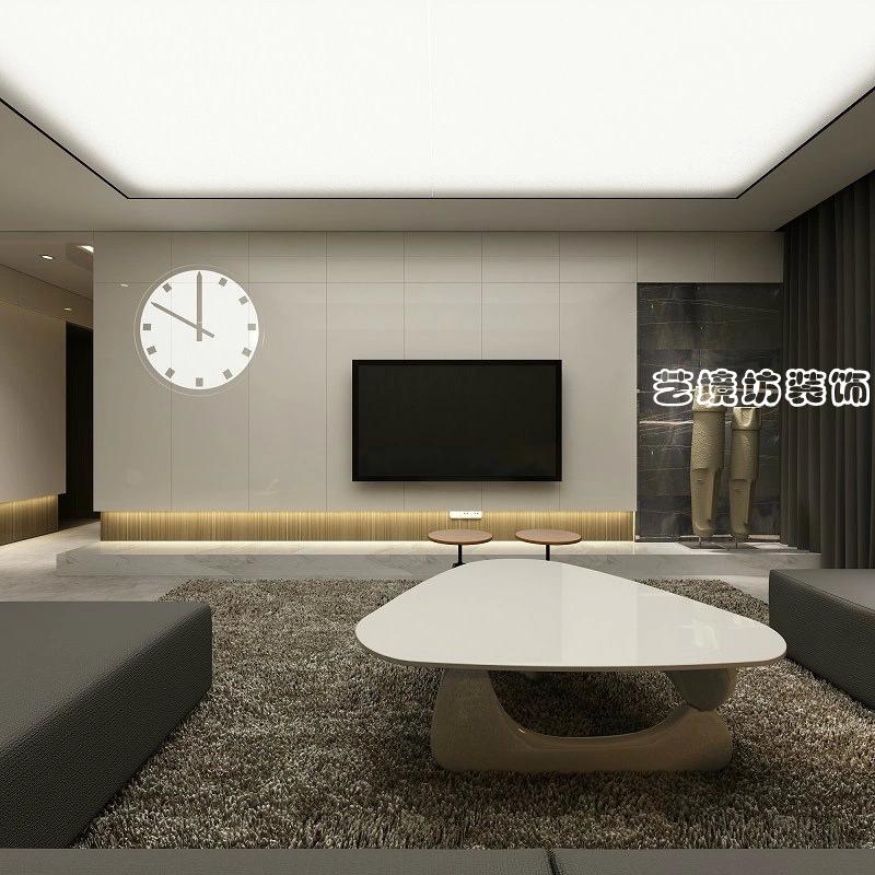簡單客廳電視背景墻裝修圖片