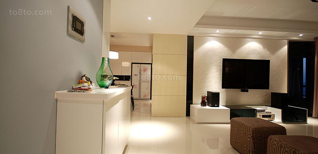 现代二居室大厅装修设计
