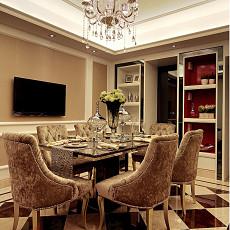 2018面积74平欧式二居餐厅装修效果图片大全