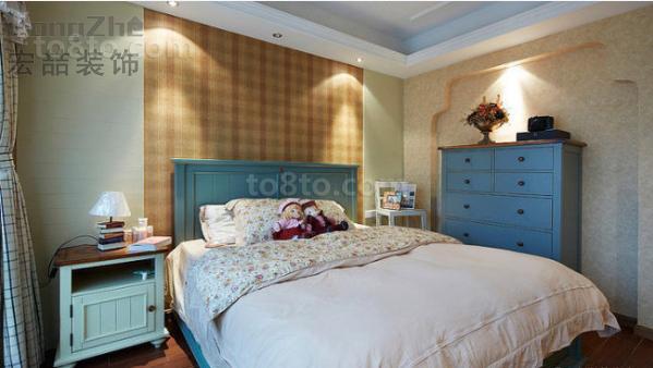 2018精选72平米田园小户型卧室装修设计效果图片欣赏