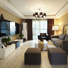 201886平米现代小户型客厅装修效果图片