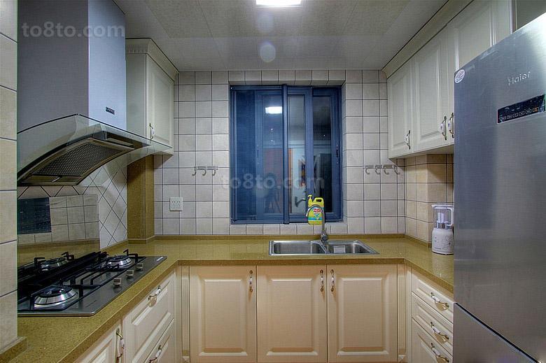 85平米田园小户型厨房装修实景图片