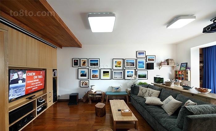 79平米简约小户型休闲区装修实景图