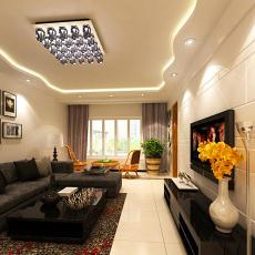精美大小90平现代二居客厅装修实景图片