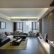 精美大小71平现代二居客厅装修实景图片欣赏