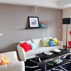 89平米二居客厅现代装修欣赏图