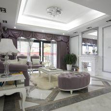 精美面积89平欧式二居客厅装修效果图片欣赏