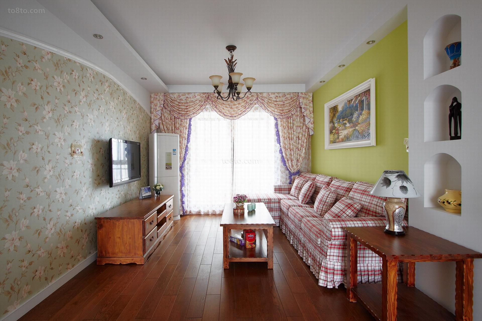 精选美式一居客厅装饰图