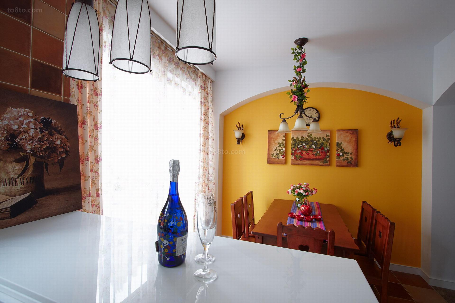 精美82平米美式小户型餐厅装饰图片
