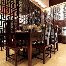 精美72平米中式小户型餐厅装修设计效果图片