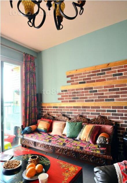 波西米亚风格客厅沙发色彩搭配设计
