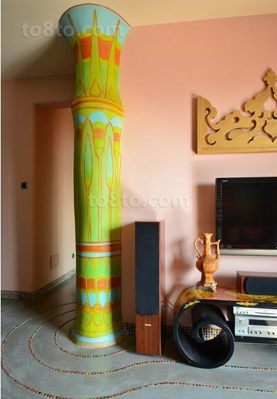 波西米亚风格室内柱子图片