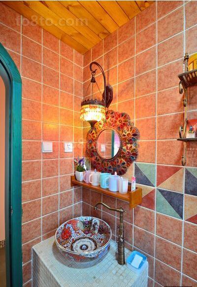 瓷砖卫生间复古壁灯图片