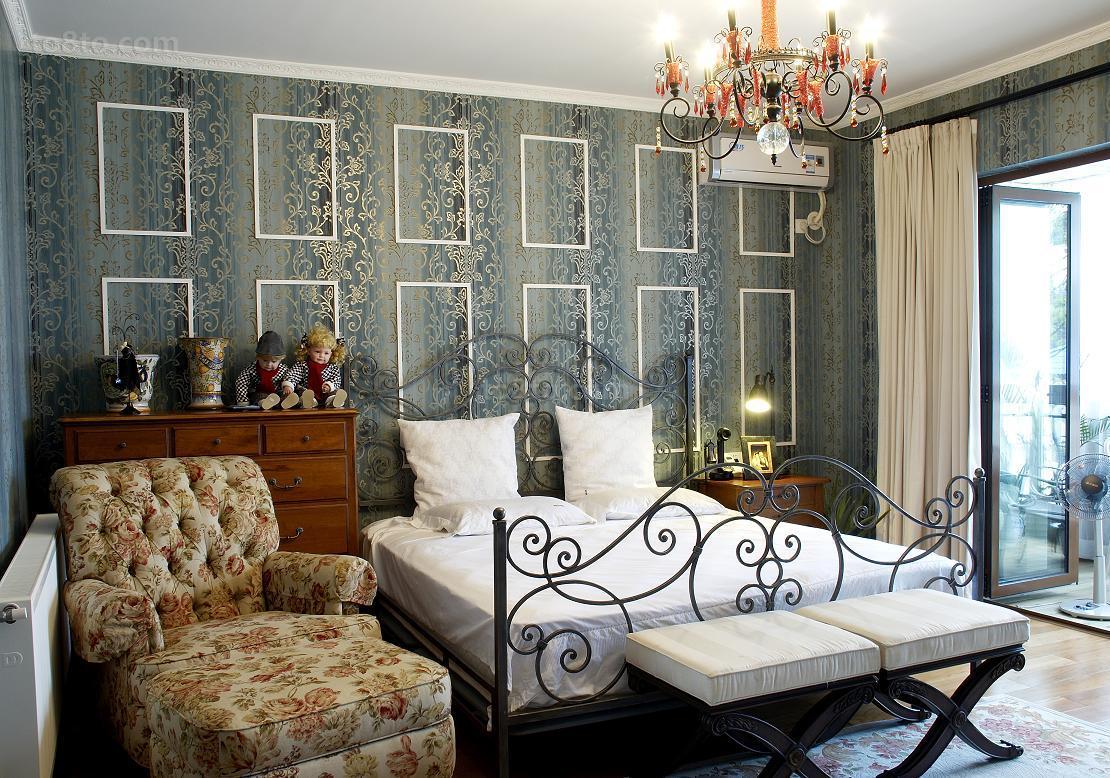 热门面积70平小户型卧室田园装修实景图片欣赏
