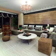 热门96平米三居客厅日式装饰图片大全
