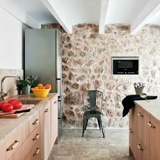 乡村别墅厨房装修效果图片