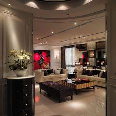 现代风格高档装修三室两厅效果图