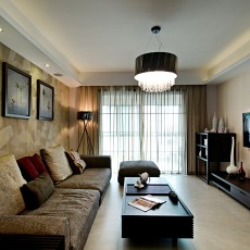 精选面积72平现代二居客厅装饰图片