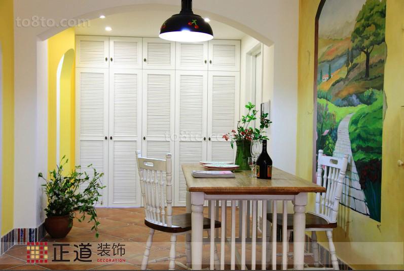 精美面积79平小户型餐厅田园装修效果图片欣赏