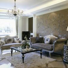 现代欧式风格客厅沙发背景墙效果图