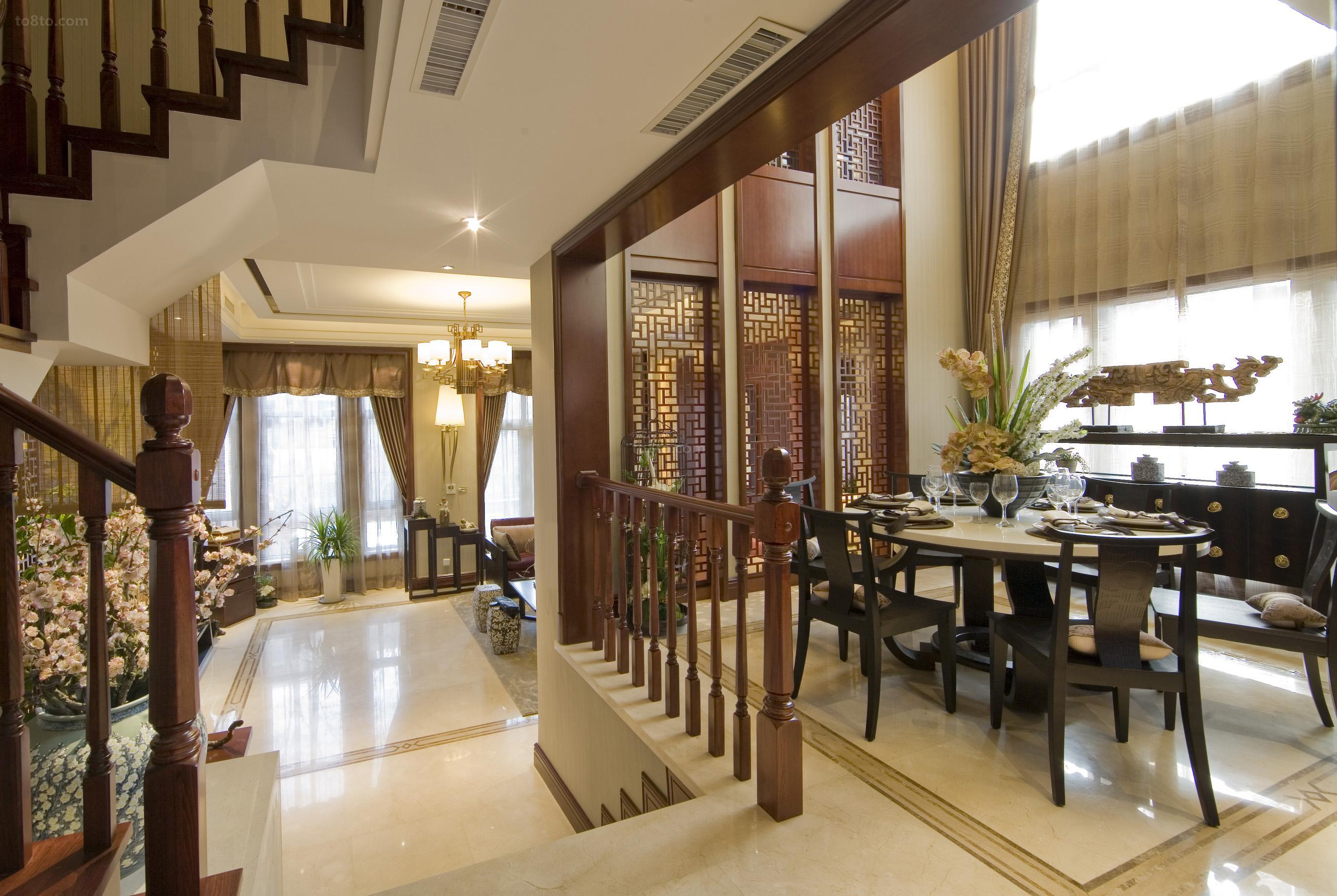 中式风格豪华餐厅设计效果图