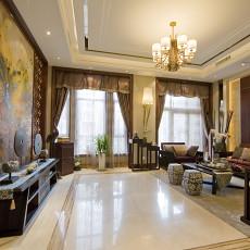 时尚中式风格客厅装修效果图