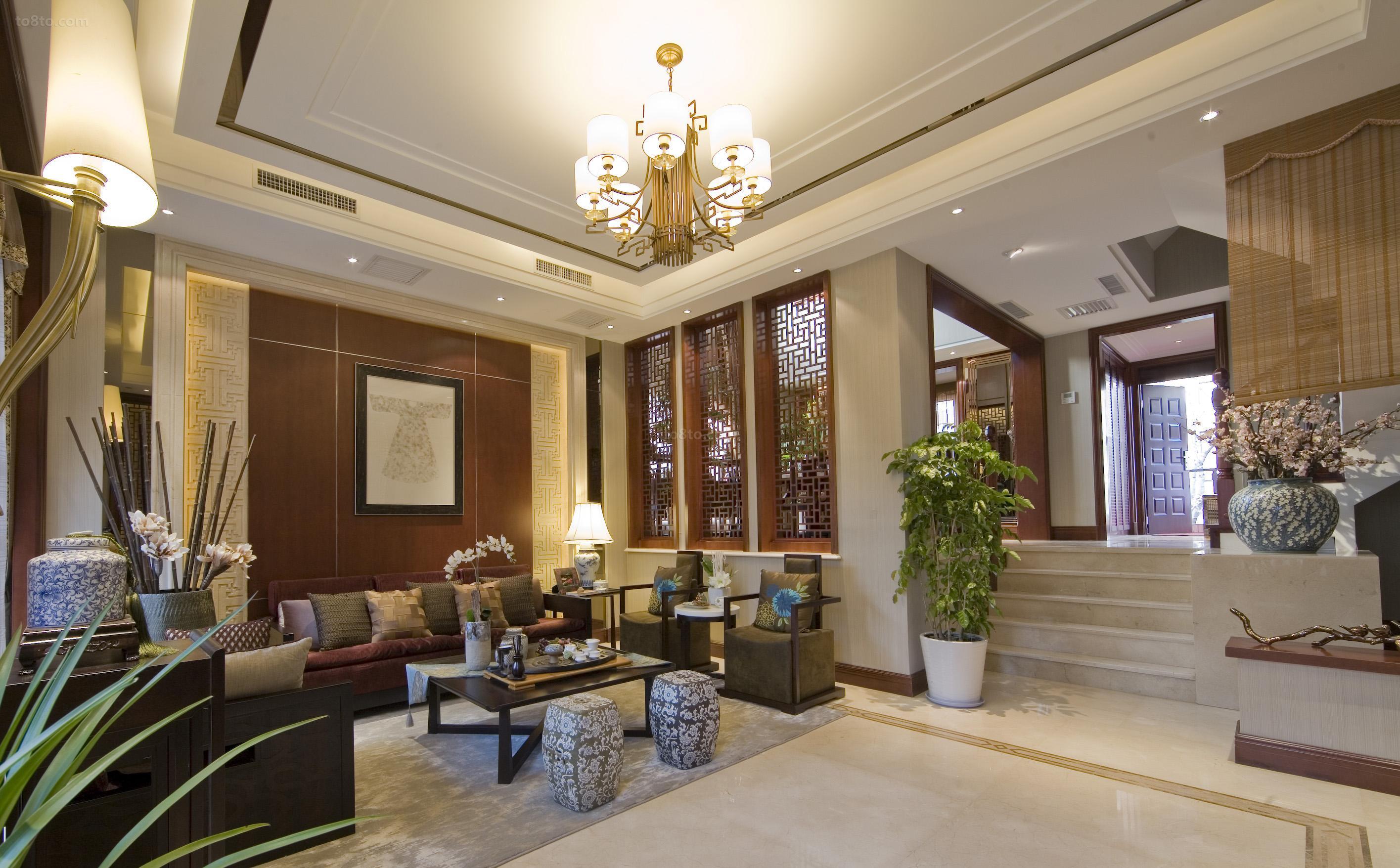 中式风格豪华室内装修效果图
