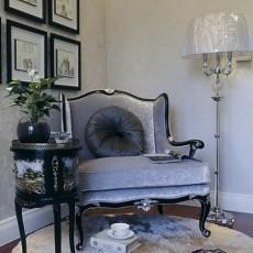 现代美式风格书房休闲区设计图片