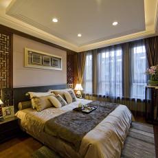 热门面积123平复式卧室中式装修设计效果图片大全