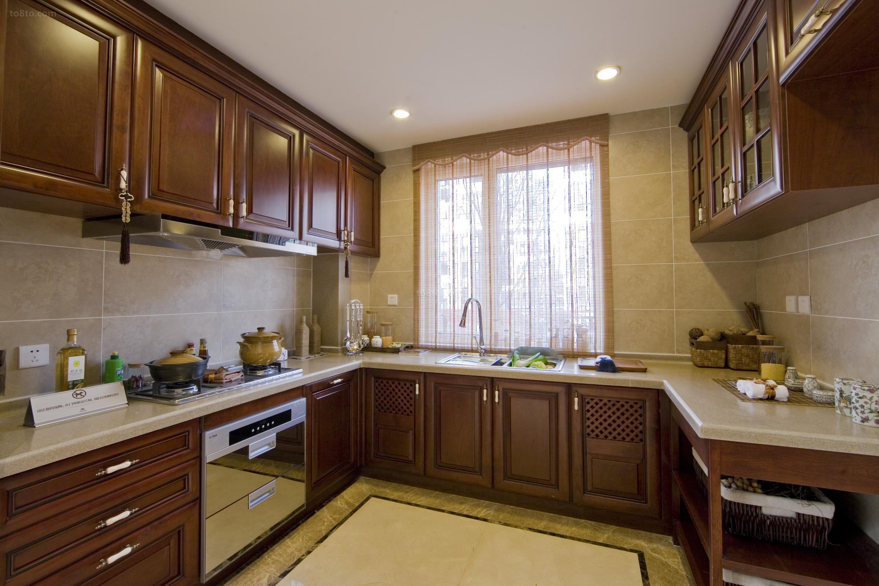 中式风格厨房装修效果图欣赏大全
