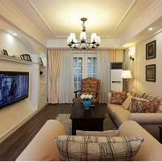 2018面积74平现代二居客厅效果图片大全